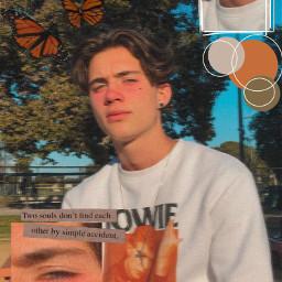 pretty prettyboy boy aesthetic orange freetoedit