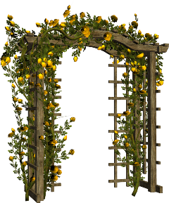 freesticker arch vine flower yellow freetoedit