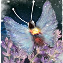 freetoedit ircgalaxysky galaxysky watercolorflowers butterfly