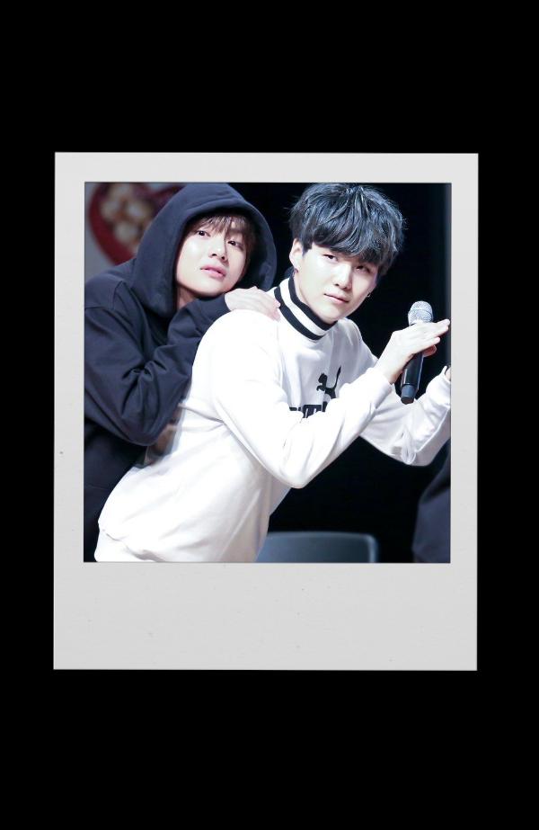 #bts #taegi #polaroid #v #suga #taehyung #yoongi #bangtansonyeondan