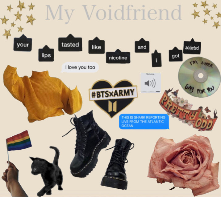 #pansexual #nonbinary #voidfriend #dating #moodboard
