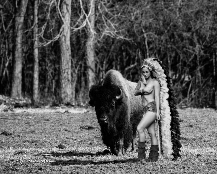 #JessikaAlaura #Playboy #model #bison #MTuckerPhotography