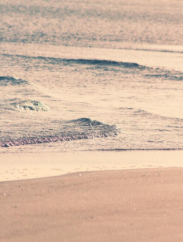 #earlyinthemorning #beachvibes #nature #seaview #waves #calmwaves #spreading on #sand #morninglight #peacefulmorning #serenity #quitetime #naturephotography                                                                         #freetoedit