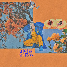 billieeilish orange blue aesthetic