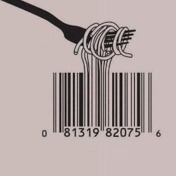 day5 barcode pasta purple pink