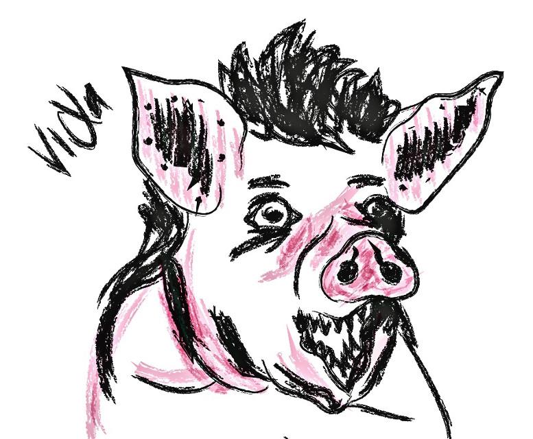 #nahual #pig #human #illustration #freetoedit