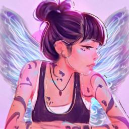 freetoedit flying fly girlsgeneration artgirl srcangelwings angelwings