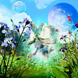 freetoedit fantasyart fantasy makebelieve imagination ecneonswirls neonswirls neon