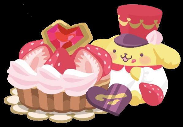 #pompompurin #aliceinwonderland #cake #chocolate #love #strawberry #heart
