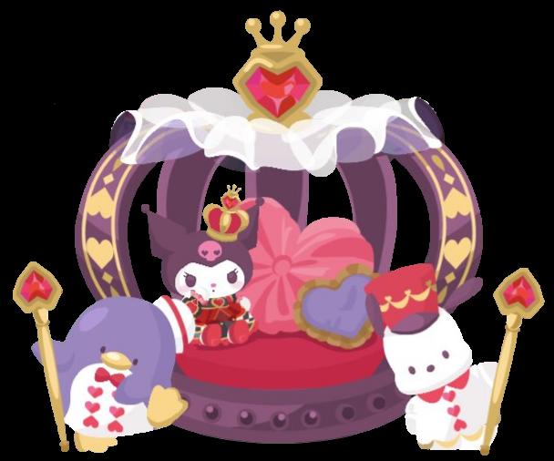 #tuxedosam #pochacco #kuromi #aliceinwonderland #queen #crown #playingcards #hearts
