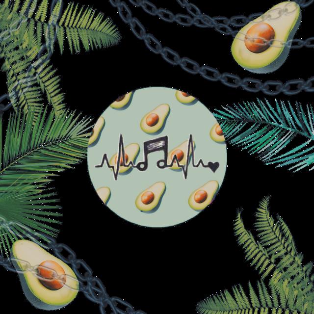 #авокадо #фон #музыка