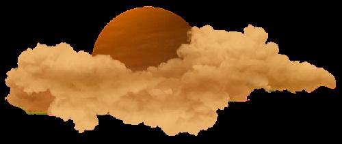 #стикер#луна#солнце#облака#