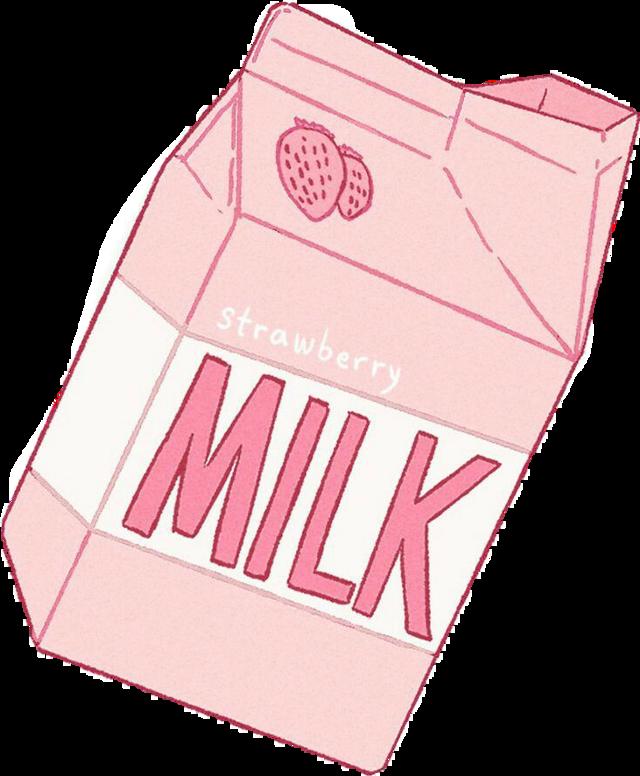 #milk#milkcarton#pink#cute#kawaii #sticker