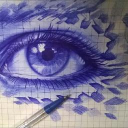 eye eyes drawings blue pencilart