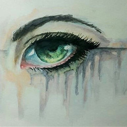 freetoedit acuarela watercolor eyes eyeshadow