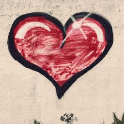 heartsisee valentinesiscoming urbanexploration oldwall graffiti freetoedit