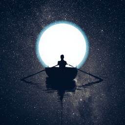 freetoedit moon stars boat magical curvestool dodgereffect myedit madewithpicsart