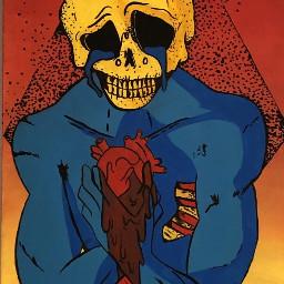 painting art skull trip create freetoedit
