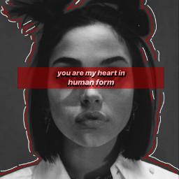 freetoedit music heart red blackandwhite