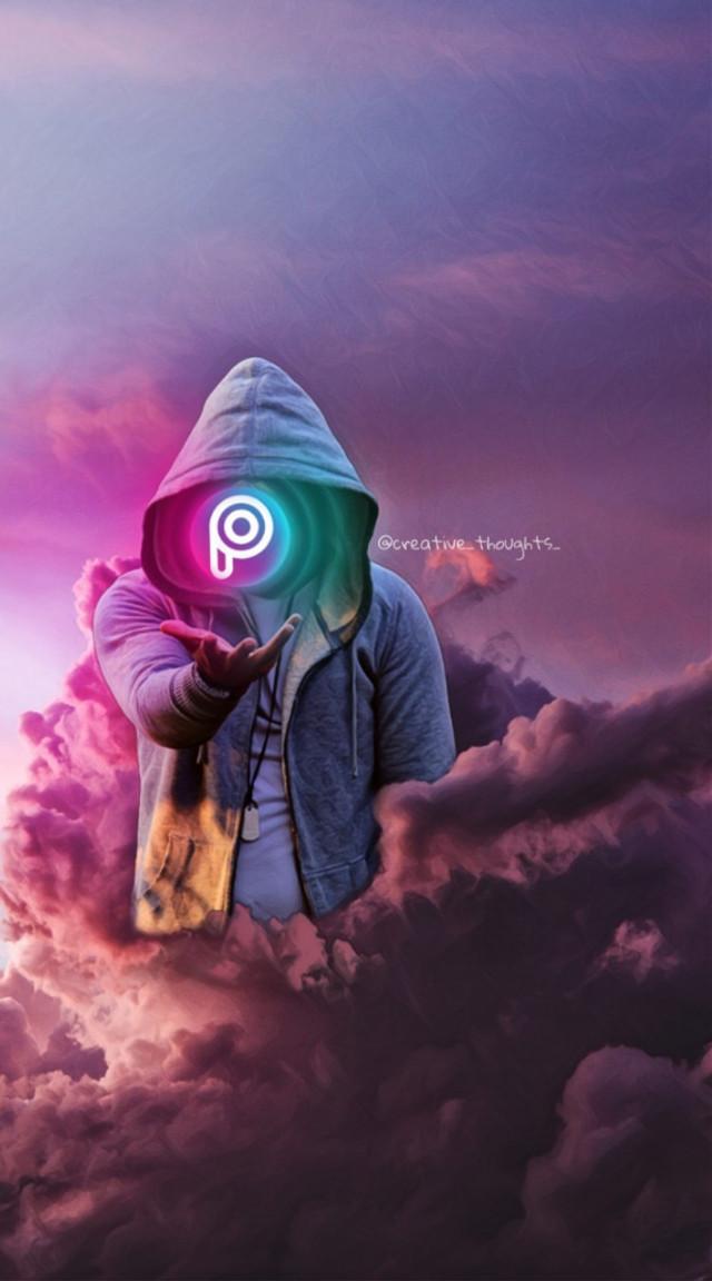 #freetoedit #picsart #pa #hoodie #pink #sky #cloud