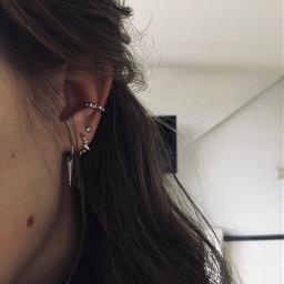 jewelry silver earring piercing freetoedit