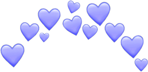 crown hearts purple lila cute freetoedit