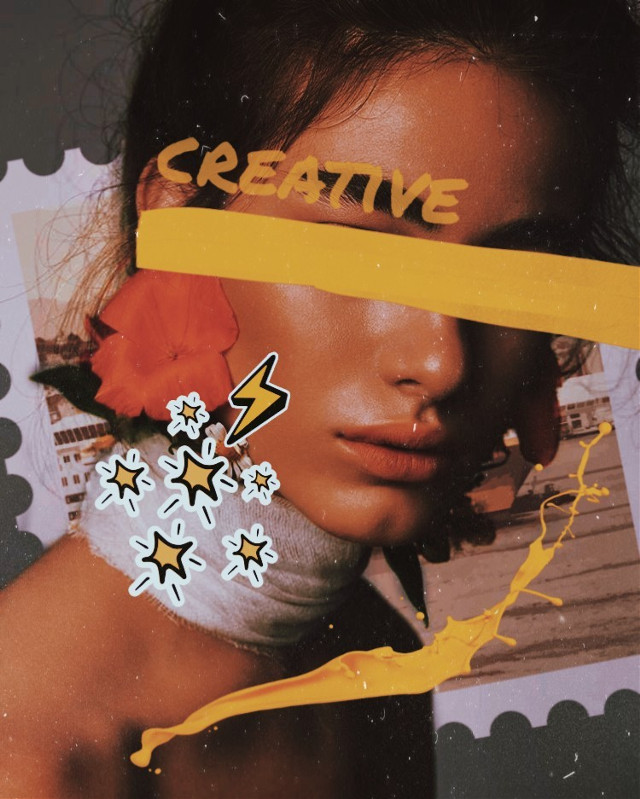 Creative 💫. Join my contest ends in 2 days! Don't forget to see the rules!  https://picsart.com/i/319632144393201 #creative #yellowaesthetic #aesthetic @collage #woman #people