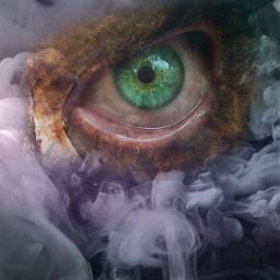 greeneye greeneyes smokeeffect horror background