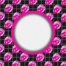 freetoedit frame pattern ftestickers pink