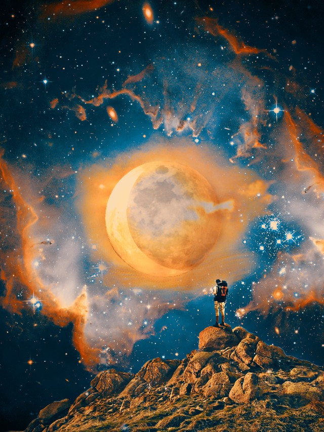 If you could travel anywhere in the world 🌏 Where would it be? Edit by @etherealynn 🌖 #moon #surreal #sun #galaxy #freetoedit