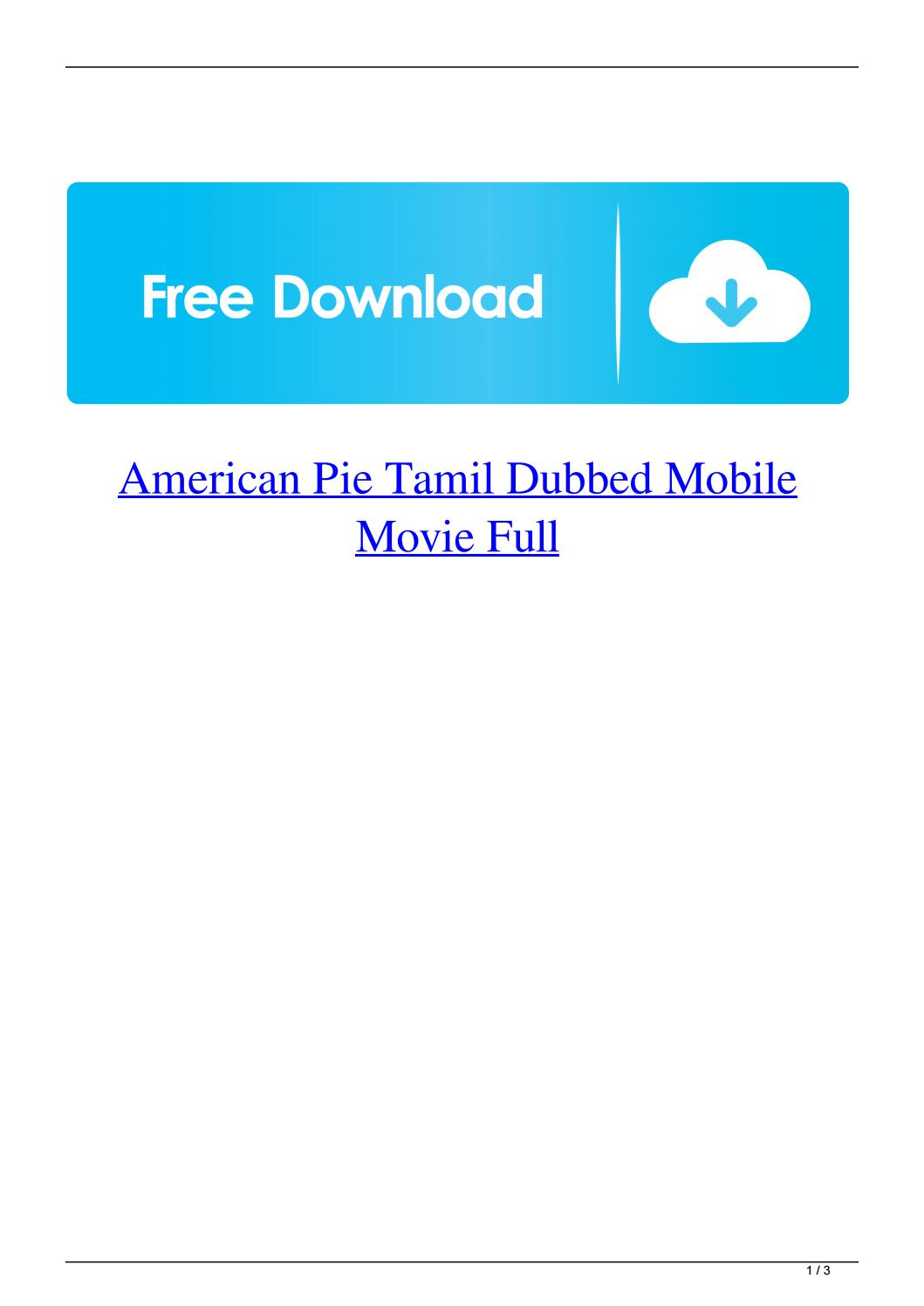 American Pie Tamil Dubbed Image By Rainhelmus2ge5