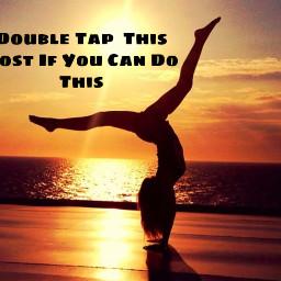 gymnastics yoga canyou heart sunsetvibes
