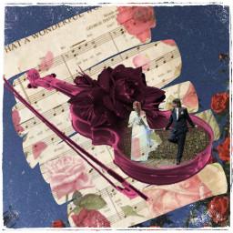 freetoedit violin sheetmusic roses