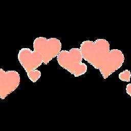 pastel heart heartcrown peach freetoedit