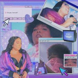 lizzo music purple purpleaesthetic computer freetoedit