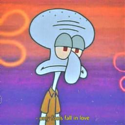 freetoedit squidward sad lonely spongebobsquarepants