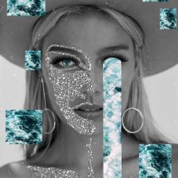 glitter sparkle waterfall abstract freetoedit