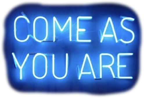 Come as you are.... #neon #neonsticker #neonsign #neonlights #neonsigns #neoneffect #nirvana #comeasyouare