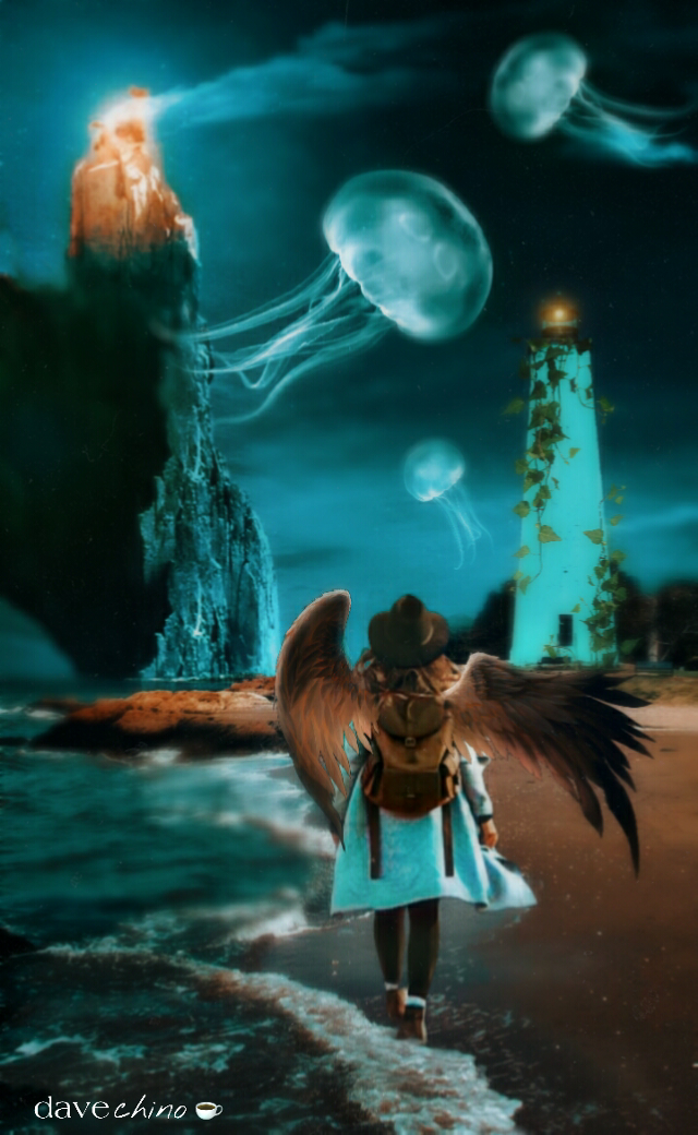 #vipshoutout to @gloryt #lighthouse #fantasy #jellyfish #angel #wanderlust @freetoedit @picsart #conseptual #myimaginationatwork #editstepbystep #surreal #surrealism #surrealart #be_unique #be_cool #be_creative #editedwithpicsart #madewithpicsart #myart #myedit