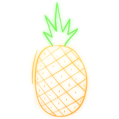 freetoedit neon pineapple ftestickers remixit