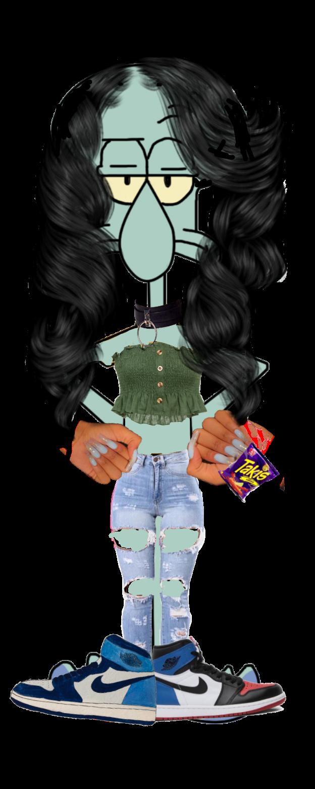 #squidwardasagirl