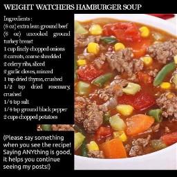 freetoedit recipe hamburger soup ww