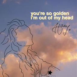 freetoedit harrystyles sky golden harry