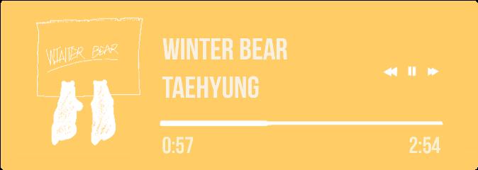 winterbear winter bear btsv taehyung freetoedit