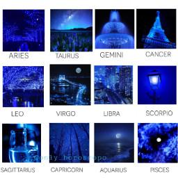 blue neon blueneon horoscope horoscopesigns