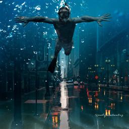 freetoedit surreal city underwater