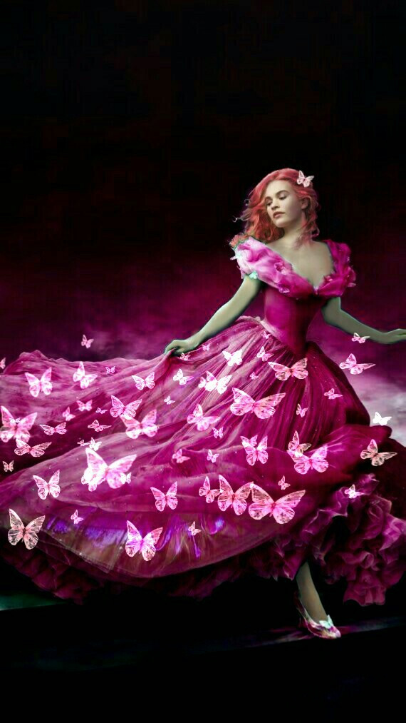#freetoedit #cinderella #pink