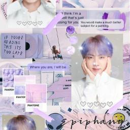 freetoedit kimseokjin jin bts purple