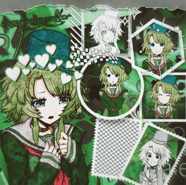 Here's my side of the collab I did with @milk_jug done. This is Kanna from Your Turn To Die. From what I've been told it's sorta like Danganronpa. Idk, I really like how this turned out and I think the collab edit should be pretty good too!                       #kanna #green #aesthetic #white #grey #black #overlay #frame #yttd #yourturntodie #noise #blur #effect #collab #edit #anime #keepsmiling  #freetoedit