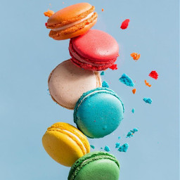 freetoedit bright colors different macarons